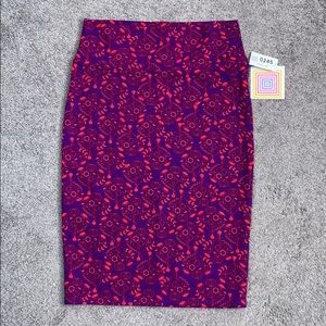 LuLaRoe purple and red Cassie skirt size M NWT